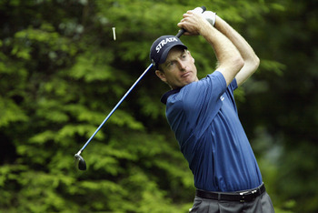 HARRISON, NY - JUNE 20:  Jim Furyk tees off on the 13th hole during the second round of the Buick Classic on June 20, 2003 at the Westchester Country Club in Harrison, New York. (Photo by Ezra Shaw/Getty Images)
