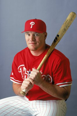 28 Feb 2000:  Infielder Pete Rose Jr. #80 of the Philadelphia Phillies poses for a studio portrait during Spring Training Photo Day in Clearwater, Florida. Mandatory Credit: Rick Stewart  /Allsport