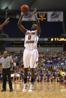 MINNEAPOLIS - MARCH 20:  Reggie Jackson #0 of the Boston College Eagles attempts a shot against the USC Trojans during the first round of the NCAA Division I Men's Basketball Tournament at the Hubert H. Humphrey Metrodome on March 20, 2009 in Minneapolis,