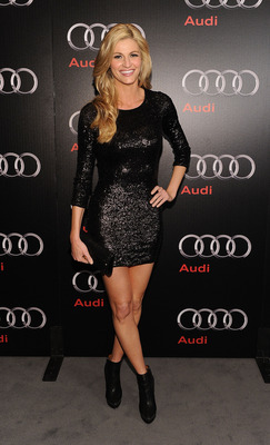 DALLAS, TX - FEBRUARY 05:  Television persoanlity Erin Andrews attends a private dinner hosted by Audi during Super Bowl XLV Weekend at the Audi Forum Dallas on February 5, 2011 in Dallas, Texas.  (Photo by Michael Buckner/Getty Images for Audi)