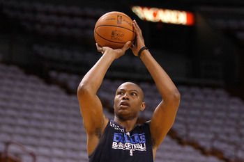 MIAMI, FL - JUNE 11:  Caron Butler of the Dallas Mavericks shoots around during practice prior to Game 6 of the 2011 NBA Finals against the Miami Heat at the American Airlines Arena on June 11, 2011 in miami, Florida. Game 6 will be played on June 12. NOT