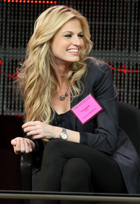 PASADENA, CA - JANUARY 05:  Broadcaster Erin Andrews speaks onstage during the 'BCS Title Game' panel at the ESPN portion of the 2011 Winter TCA press tour held at the Langham Hotel on January 5, 2011 in Pasadena, California.  (Photo by Frederick M. Brown