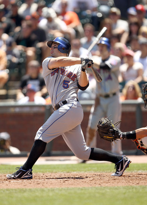 SAN FRANCISCO - JULY 18:  David Wright #5 of the New York Mets bats against the San Francisco Giants at AT&T Park on July 18, 2010 in San Francisco, California.  (Photo by Ezra Shaw/Getty Images)