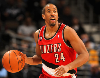 DENVER - DECEMBER 28:  Andre Miller #24 of the Portland Trail Blazers dribbles the ball against the Denver Nuggets at Pepsi Center on December 28, 2010 in Denver, Colorado. The Nuggets defeated the Blazers 95-77. NOTE TO USER: User expressly acknowledges