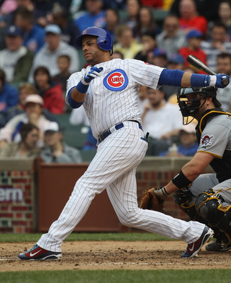 CHICAGO, IL - MAY 29: Aramis Ramirez #16 of the Chicago Cubs hits the ball against the Pittsburgh Pirates at Wrigley Field on May 29, 2011 in Chicago, Illinois. The Cubs defeated the Pirates 3-2.(Photo by Jonathan Daniel/Getty Images)