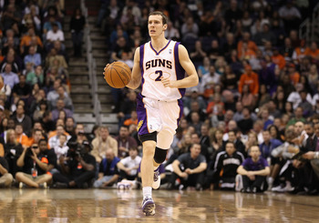 PHOENIX, AZ - JANUARY 14:  Goran Dragic #2 of the Phoenix Suns hanldes the ball during the NBA game against the Portland Trail Blazers at US Airways Center on January 14, 2011 in Phoenix, Arizona. The Suns defeated the Trail Blazers 115-111. NOTE TO USER: