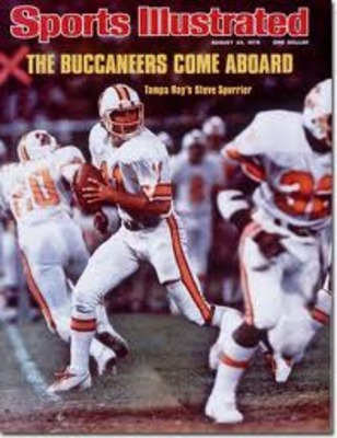 Quarterback Steve Spurrier of the Buccaneers