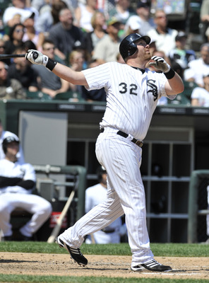 CHICAGO, IL - JUNE 12: Adam Dunn #32 of the Chicago White Sox bats against the Oakland Athletics on June 12, 2011 at U.S. Cellular Field in Chicago, Illinois. The White Sox defeated the Athletics 5-4.  (Photo by David Banks/Getty Images)