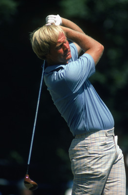 BALTUSROL - JUNE:  Jack Nicklaus of the USA in action during the US Open on the Lower Course of the Baltusrol Golf Club in New Jersey, USA in June 1980. (photo by Getty Images)