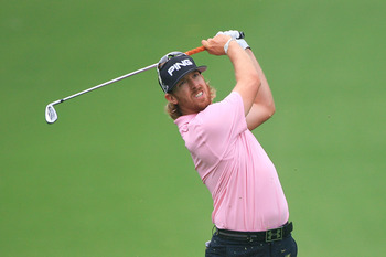 FORT WORTH, TX - MAY 20: Hunter Mahan watches his second shot on the 18th hole during the second round of the Crowne Plaza Invitational at Colonial Country Club on May 20, 2011 in Fort Worth, Texas. (Photo by Hunter Martin/Getty Images)