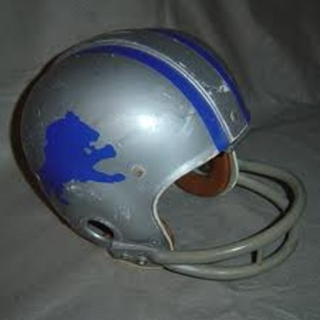 1966 Lions game-used helmet