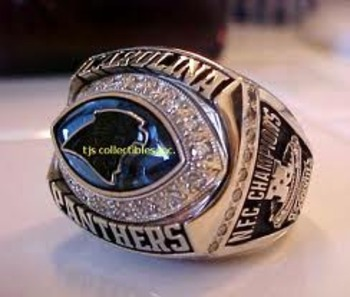2003 Panthers NFC Champs ring