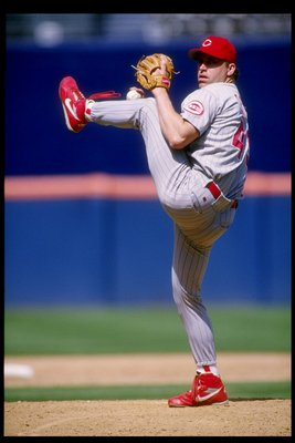 24 Jun 1993:  Pitcher Rob Dibble of the Cincinnati Reds in action during a game against the San Diego Padres at Jack Murphy Stadium in San Diego, California.  Mandatory Credit: Stephen Dunn  /Allsport