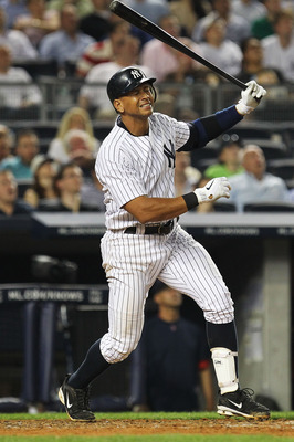 NEW YORK, NY - JUNE 07:  Alex Rodriguez #13 of the New York Yankees reacts after popping up with men on base to end the inning against the Boston red sox during their game on June 7, 2011 at Yankee Stadium in the Bronx borough of New York City.  (Photo by