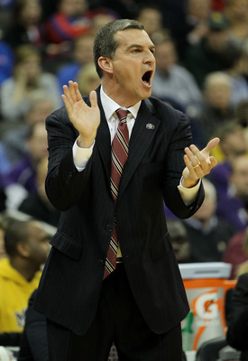 KANSAS CITY, MO - MARCH 10:  Head coach Mark Turgeon of the Texas A&M Aggies reacts to a play during their quarterfinal game against the Missouri Tigers in the 2011 Phillips 66 Big 12 Men's Basketball Tournament at Sprint Center on March 10, 2011 in Kansa