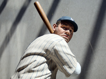 COOPERSTOWN, NY - JULY 25:  A statue of Babe Ruth is seen at the National Baseball Hall of Fame during induction weekend on July 25, 2009 in Cooperstown, New York.  (Photo by Jim McIsaac/Getty Images)