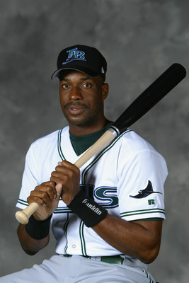 ST. PETERSBURG, FL - FEBRUARY 23:  Fred McGriff #29 of the Tampa Bay Devil Rays poses for a portrait on February 23, 2004 at the Devil Rays spring training complex in St. Petersburg, Florida.  (Photo by Ezra Shaw/Getty Images)