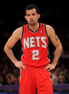 LOS ANGELES, CA - JANUARY 14:  Jordan Farmar #2 of the New Jersey Netsstands on the court in the game against the Los Angeles Lakers at Staples Center on January 14, 2011 in Los Angeles, California. The Lakers won 100-88.  NOTE TO USER: User expressly ack