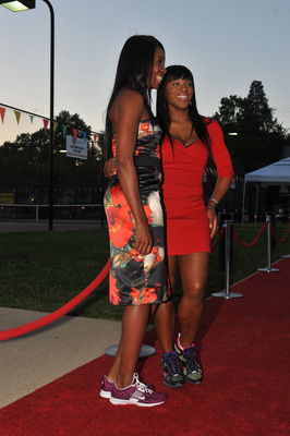 WASHINGTON, DC - April 28: Venus Williams and Serena Williams attend the Tennis Ball II gala at the Southeast Tennis and Learning Center on April 28, 2011 in Washington, DC. (Photo by Larry French/Getty Images)