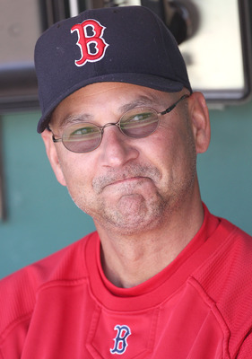 BOSTON, MA - JUNE 5: Manager Terry Francona of the Boston Red Sox watches the action before a game against the Oakland Athletics at Fenway Park on June 5, 2011 in Boston, Massachusetts.  (Photo by Jim Rogash/Getty Images)