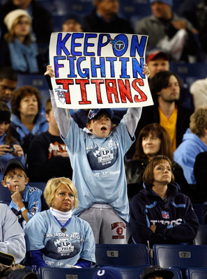 NASHVILLE, TN - OCTOBER 11:  A Tennessee Titans fan shows her support during the 31-9 loss to the Indianapolis Colts at LP Field on October 11, 2009 in Nashville, Tennessee.  (Photo by Andy Lyons/Getty Images)