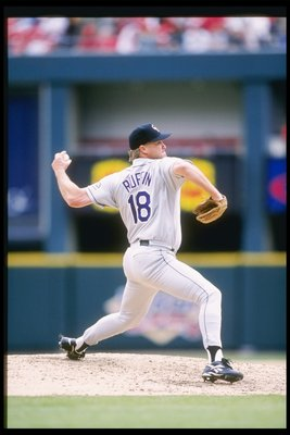 26 Apr 1997:  Pitcher Bruce Ruffin of the Colorado Rockies throws a pitch during a game against the St. Louis Cardinals at Busch Stadium in St. Louis, Missouri.  The Rockies won the game 4-2. Mandatory Credit: Stephen Dunn  /Allsport