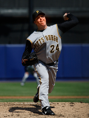 NEW YORK - APRIL 30: Tom Gorzelanny #24 of the Pittsburgh Pirates pitches against the New York Mets on April 30, 2008 at Shea Stadium in the Flushing neighborhood of the Queens borough of New York City.  (Photo by Nick Laham/Getty Images)