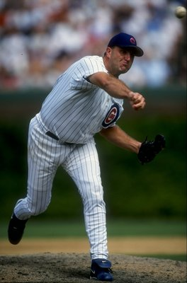 13 Aug 1998:  Pitcher Mark Clark #34 of the Chicago Cubs throws during the game against the St.Louis Cardinals at Wrigley Field in Chicago, Illinois. The Cardinals defeated the Cubs 8-6.