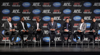 UFC 129 was the first time all 7 UFC Champs were in one room