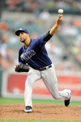 BALTIMORE, MD - JUNE 11:  David Price #14 of the Tampa Bay Rays pitches against the Baltimore Orioles at Oriole Park at Camden Yards on June 11, 2011 in Baltimore, Maryland.  (Photo by Greg Fiume/Getty Images)