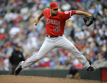MINNEAPOLIS, MN - MAY 29: Jordan Walden #51 of the Los Angeles Angels of Anaheim pitches against the Minnesota Twins during the ninth inning of their game on May 29, 2011 at Target Field in Minneapolis, Minnesota. Angels defeated the Twins 6-5. (Photo by