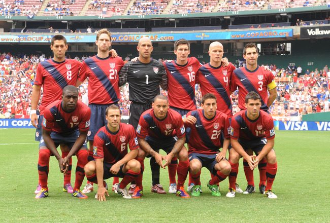 WASHINGTON, DC - JUNE 19:   The United States team poses for photo before the 2011 Gold Cup Quarterfinals match against Jamaica on June 19, 2011 at RFK Stadium in Washington, DC  (Photo by Mitchell Layton/Getty Images)