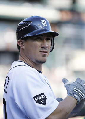 DETROIT - JUNE 13: Magglio Ordonez #30 of the Detroit Tigers gets ready to bat during the game against the Tampa Bay Rays at Comerica Park on June 13, 2011 in Detroit, Michigan.  (Photo by Leon Halip/Getty Images)