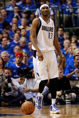 DALLAS, TX - MAY 17:  Corey Brewer #13 of the Dallas Mavericks reacts in the first half while taking on the Oklahoma City Thunder in Game One of the Western Conference Finals during the 2011 NBA Playoffs at American Airlines Center on May 17, 2011 in Dall
