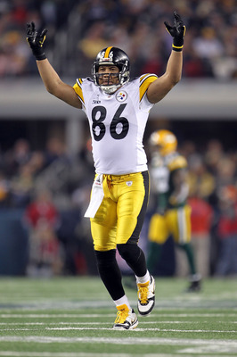 ARLINGTON, TX - FEBRUARY 06:  Hines Ward #86 of the Pittsburgh Steelers reacts against the Green Bay Packers during Super Bowl XLV at Cowboys Stadium on February 6, 2011 in Arlington, Texas. The Packers won 31-25. (Photo by Jamie Squire/Getty Images)