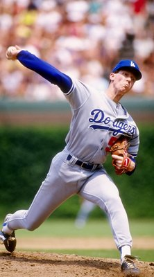 Jun 1991:  Pitcher Orel Hershiser of the Los Angeles Dodgers throws the ball during a game against the Chicago Cubs at Wrigley Field in Chicago, Illinois. Mandatory Credit: Jonathan Daniel  /Allsport