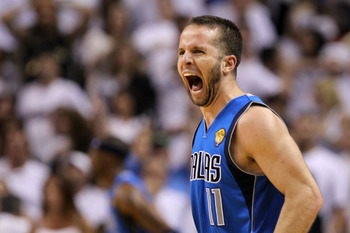 MIAMI, FL - JUNE 12:  Jose Juan Barea #11 of the Dallas Mavericks reacts in the fourth quarter while taking on the Miami Heat in Game Six of the 2011 NBA Finals at American Airlines Arena on June 12, 2011 in Miami, Florida. NOTE TO USER: User expressly ac