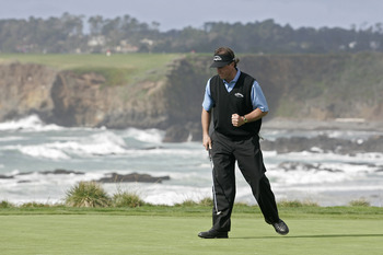 UNITED STATES - FEBRUARY 11:  Phil Mickelson during the fourth round of the AT&T Pebble Beach National Pro-Am on the Pebble Beach Golf Links in Pebble Beach, California on February 11, 2007.  (Photo by Michael Cohen/Getty Images)
