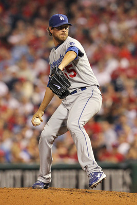 PHILADELPHIA - JUNE 8: Pitcher Matt Guerrier #55 of the Los Angeles Dodgers throws a pitch during a game against the Philadelphia Phillies at Citizens Bank Park on June 8, 2011 in Philadelphia, Pennsylvania. The Phillies won 2-0. (Photo by Hunter Martin/G