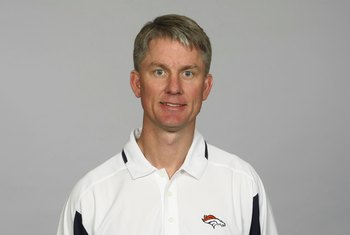 DENVER - 2009:  Mike McCoy of the Denver Broncos poses for his 2009 NFL headshot at photo day in Denver, Colorado. (Photo by NFL Photos)