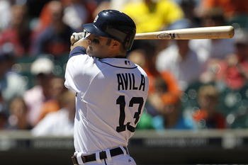 Detroit Tigers catcher Alex Avila