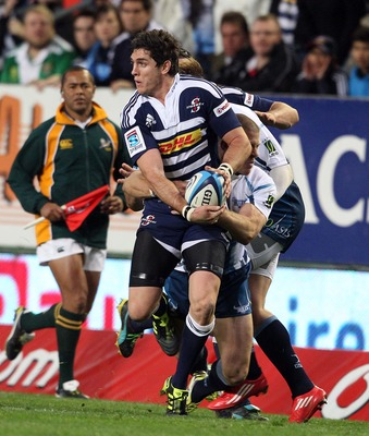 CAPE TOWN, SOUTH AFRICA - JUNE 11:   Jacque Fourie from the Stormers battles during the Super Rugby match between DHL Stormers and Vodacom Bulls at DHL Newlands on June 11, 2011 in Cape Town, South Africa.  (Photo by Carl Fourie/Gallo Images/Getty Images)