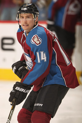 DENVER - DECEMBER 23:  Tomas Fleischmann #14 of the Colorado Avalanche warms up prior to facing the Minnesota Wild at the Pepsi Center on December 23, 2010 in Denver, Colorado. The Wild defeated the Avalanche 3-1.  (Photo by Doug Pensinger/Getty Images)