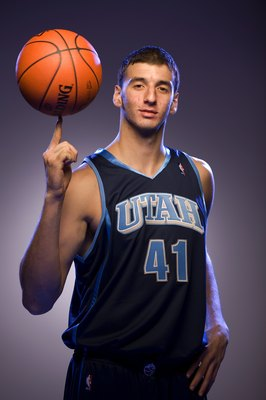 TARRYTOWN, NY - JULY 29:  Kosta Koufos of the Utah Jazz  poses for a portrait during the 2008 NBA Rookie Photo Shoot on July 29, 2008 at the MSG Training Facility in Tarrytown, New York.  NOTE TO USER: User expressly acknowledges and agrees that, by downl