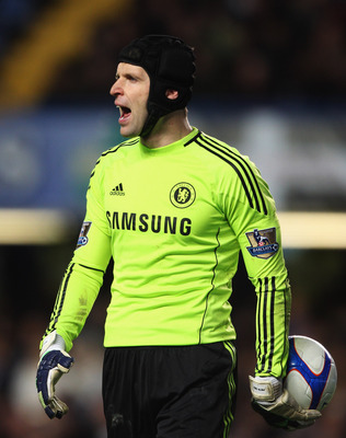 LONDON, ENGLAND - JANUARY 09:  Petr Cechs of Chelsea shouts during the FA Cup sponsored by E.ON 3rd round match between Chelsea and Ipswich Town at Stamford Bridge on January 9, 2011 in London, England.  (Photo by Scott Heavey/Getty Images)