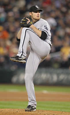 SEATTLE - MAY 06:  Starting pitcher Philip Humber #41 of the Chicago White Sox pitches against the Seattle Mariners at Safeco Field on May 6, 2011 in Seattle, Washington. The Mariners won 3-2. (Photo by Otto Greule Jr/Getty Images)