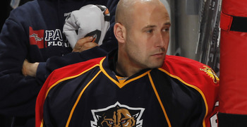 SUNRISE, FL - MARCH 3: Goaltender Tomas Vokoun #29 of the Florida Panthers watches action from the bench against the Montreal Canadiens on March 3, 2011 at the BankAtlantic Center in Sunrise, Florida. The Canadiens defeated the Panthers 4-0. (Photo by Joe