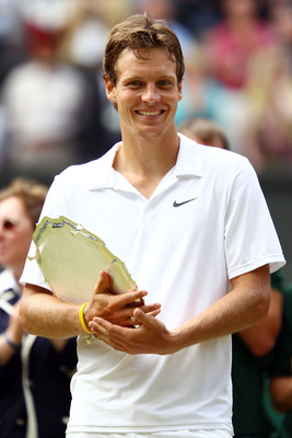 Tomas Berdych made it to his first Grand Slam final, at Wimbledon 2010.