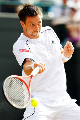 Robin Soderling at Wimbledon 2010.