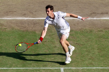 Andy Murray lost to Rafael Nadal at Wimbledon in 2010.